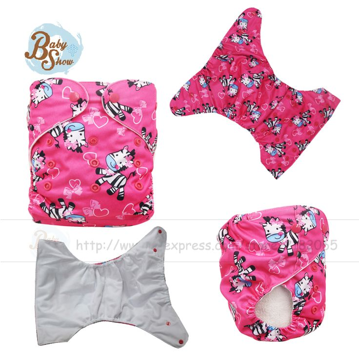 Babyshow Cloth Diaper Cover For Baby Waterproof & Breathable & Adjustable Printed Animal Pattern Cloth Diaper Fits 5-15kg Baby