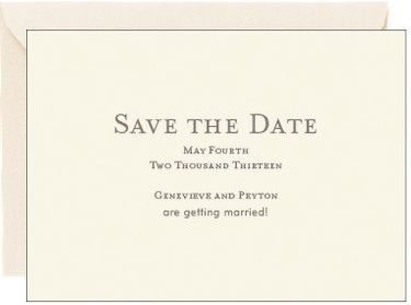 Save the Date, papersource
