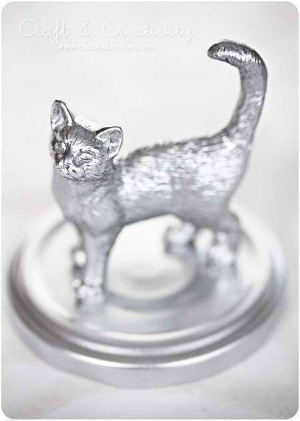 vernice argento su plastica