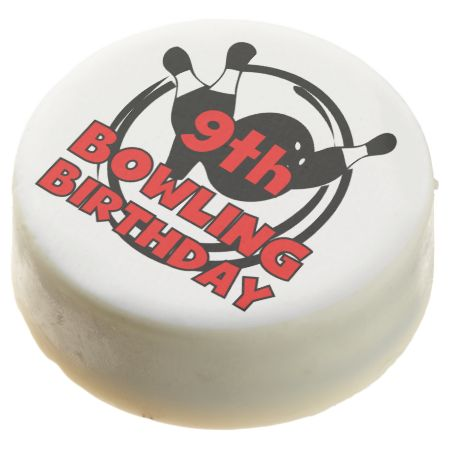 Bowling 9th Birthday Dipped Oreos Chocolate Dipped Oreo