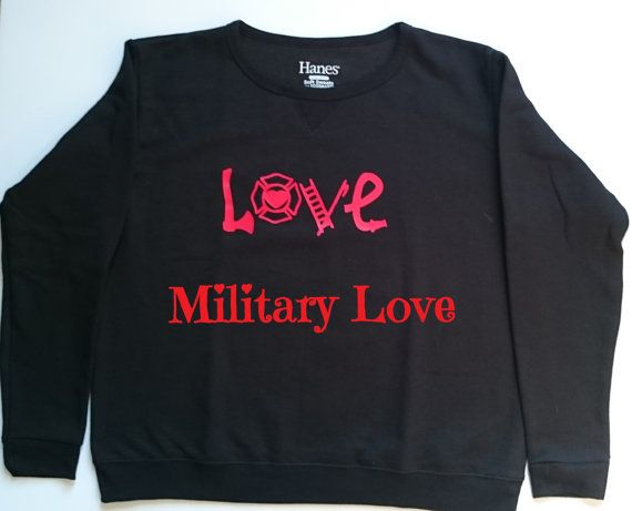 Firefighter Love Womens Sweater First Responder by MilitaryLove143