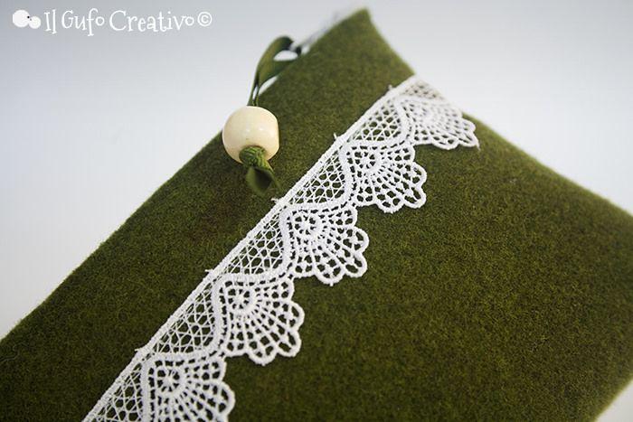 Macramè on green pochette - Il Gufo Creativo   Flickr – Condivisione di foto!