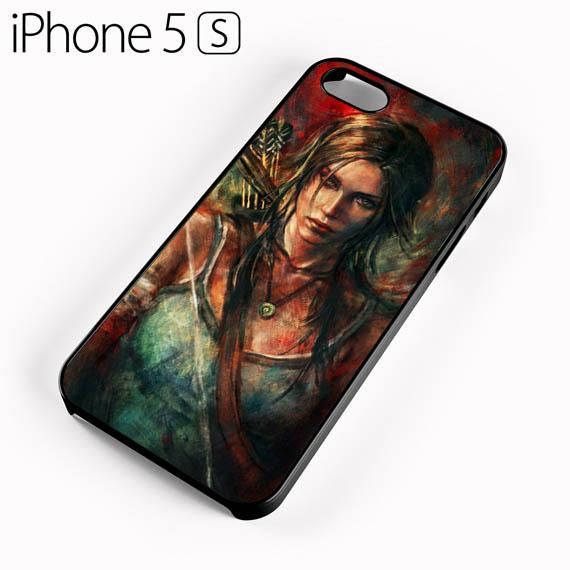Tomb Rider Lara croft Sanat iPhone 5 Kılıfı