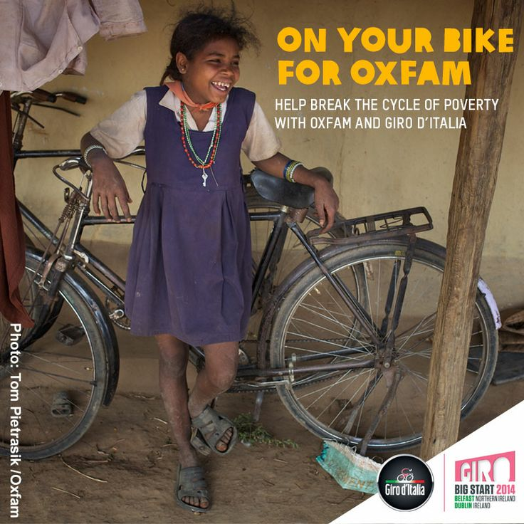 From the 9-11 May the Giro d'Italia is taking place across the island of Ireland with Oxfam as the official charity partner! Join us to help break the cycle of poverty: https://www.oxfamireland.org/giro #Giro