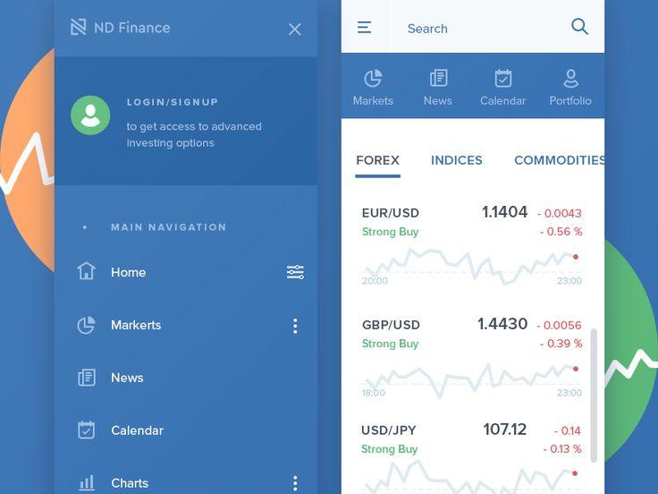 Mobile UI for Financial Website by Olia Gozha