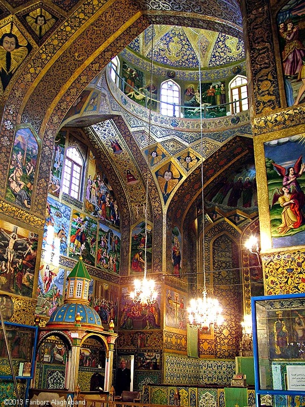 Vank Cathedral was one of the first churches to be established in the city's Jolfa district by Armenian deportees settled by Shah Abbas I after the Ottoman War of 1603-1605
