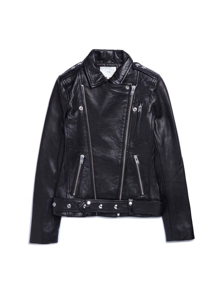 IRO   Black Jamie Moto Jacket   Lyst