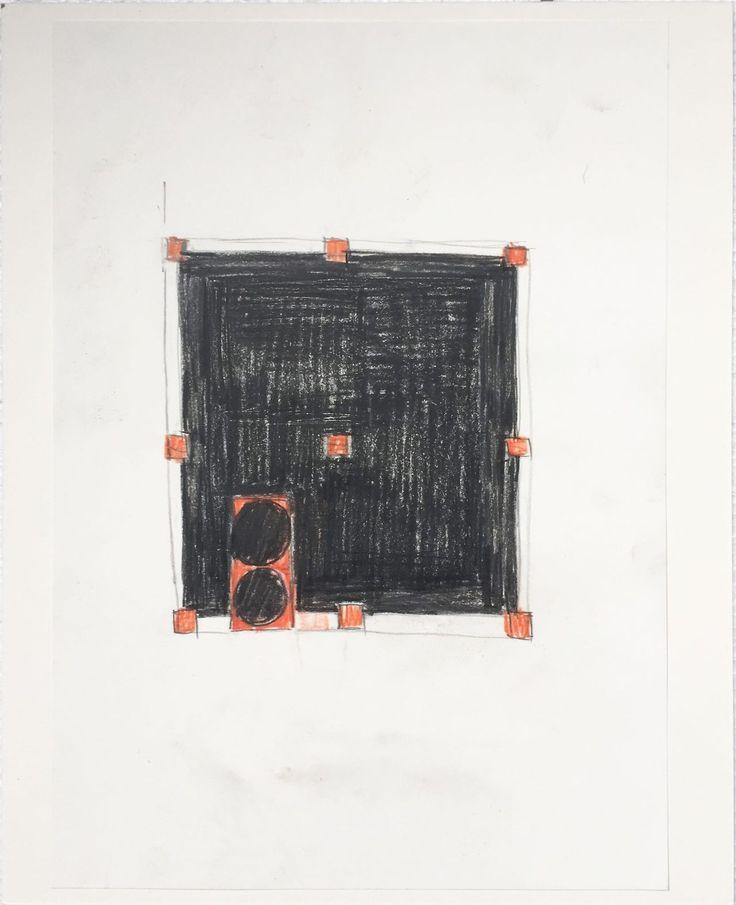 Peter Märkli, two Language drawings-Pastel and pencil on paper, 2015