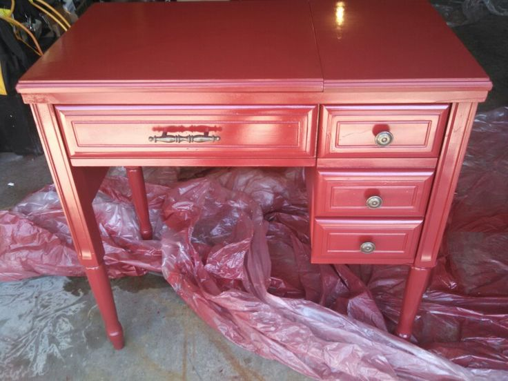 Sewing Table Turned Into Cpap Hider Nightstand For The