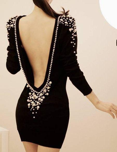 Amazing Nylon Black Sexy Style Bateau Sheath Long Sleeve Mini Party Dresses