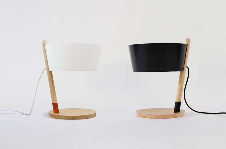 Ka S is a table lamp made of beech wood by WOODENDOT.