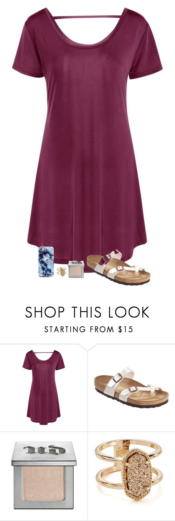 """""""What I have done so far this week"""" by sweet-n-southern ❤ liked on Polyvore featuring Birkenstock, Urban Decay and Kendra Scott"""