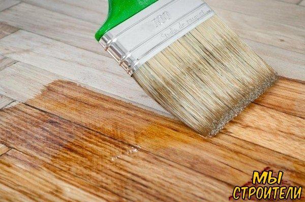 Химическая чистка деревянного пола