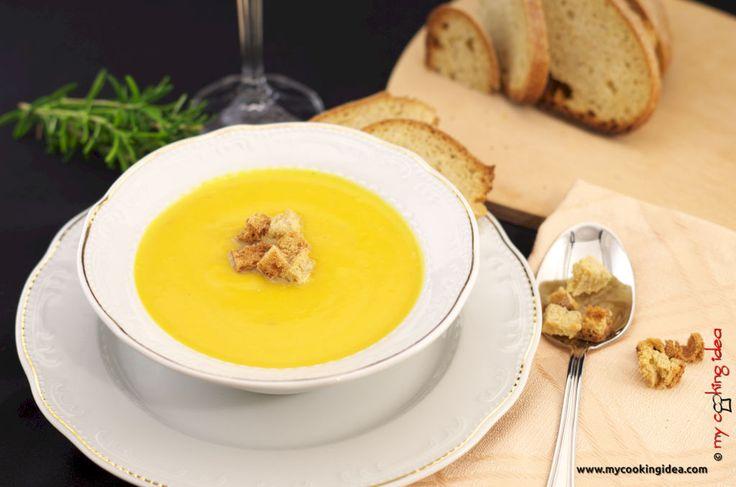 Crema di zucca, ricetta - My cooking idea http://www.mycookingidea.com/2014/11/crema-di-zucca/