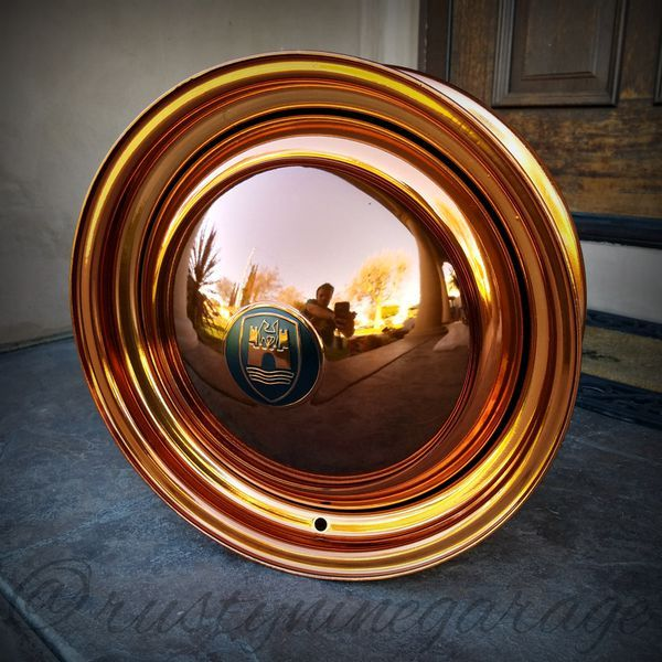 """15"""" Copper Wolfsburg Edition Smoothie Wheels for Volkswagen Bug Smoothies Rims VW Parts"""