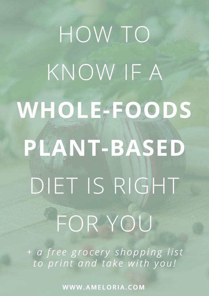 Find out more about a plant based diet, if it's right for you and download a printable shopping list to take with you to the grocery store. | Ameloria Wellness