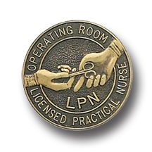 Operating Room LPN Licensed Practical Nurse Bronze Lapel Pin A unique pin I've not seen before. I know personally, and have worked with two LPNs who work in surgery as scrub nurses, and they do a wonderful job! This would be a great gift for any LPNs you know who do that job, because we know how challenging it is!