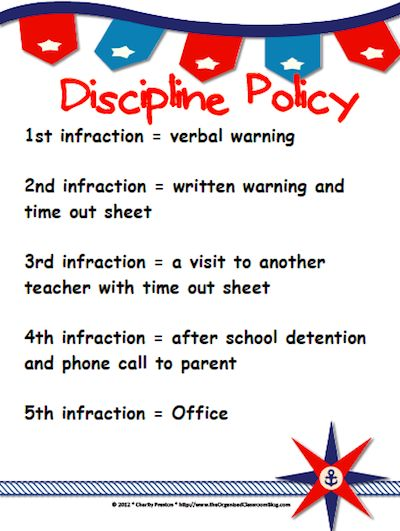 Deciding on Discipline - The Organized Classroom Blog http://www.theorganizedclassroomblog.com/index.php/blog/deciding-on-discipline