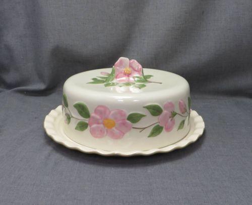 Franciscan Desert Rose 3D Pink Flower china Covered Cake Plate Lid NEW & 124 best Cake Domes images on Pinterest | Vintage cakes Cake ...