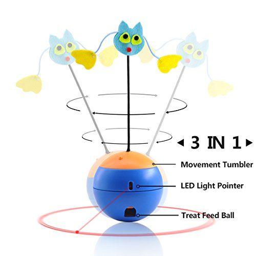 Aus der Kategorie Bälle  gibt es, zum Preis von EUR 24,17  Eigenschaften:<br/>1. Drücken Sie die ON/OFF Taste zu starten.<br/>2. Unregelmäßige drehbare Konstruktion.<br/>3. Denn das Trinkglas kann Bewegung Lebensmittel durch den Mund eines Lecks, Leckagen.<br/>4. LED-Licht-Zeiger abwechselnd Rhythmus und Ausschalten. (LED-Funktion: max Ausgangsleistung: < 5m & Wellenlänge 630-670mm).<br/>5. 10Minuten nach dem Spielzeug, automatische Abschaltung, in Übereinstimmung mit an/Ausschalter…