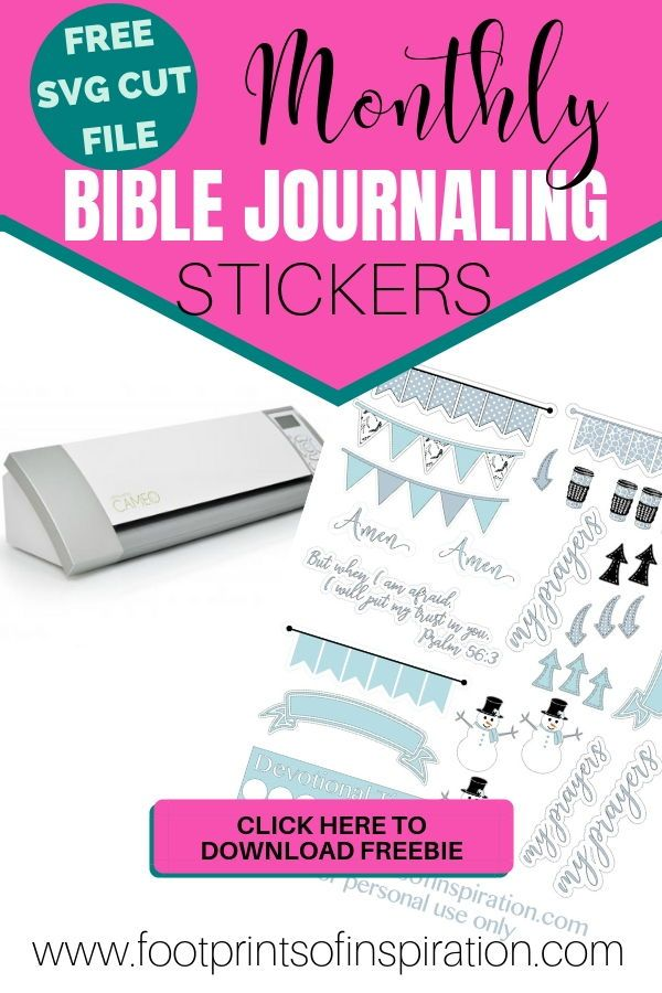 Free Monthly Prayer Journal Stickers | Faith & Inspiration