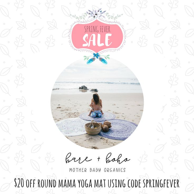 ORGANIC + ECO PRODUCTS FOR MUM + BABY $20 off round Mum Yoga Mat. Valid until midnight Oct 1 Code: SPRINGFEVER
