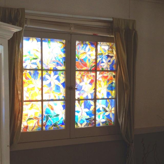 my window film at home depot 20 bucks cottage decor. Black Bedroom Furniture Sets. Home Design Ideas