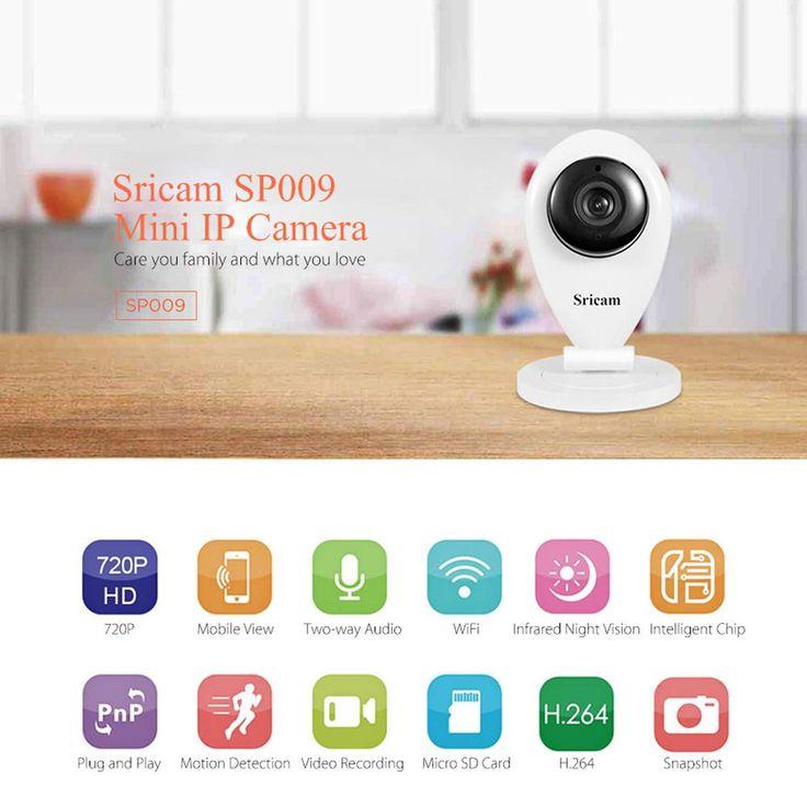 Sricam SP009 IR Cut Wifi IP Camera Network Wireless 720P HD  CCTV Security Camera
