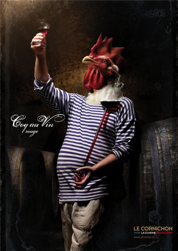 Le Cornichon: Coq au Vin rouge