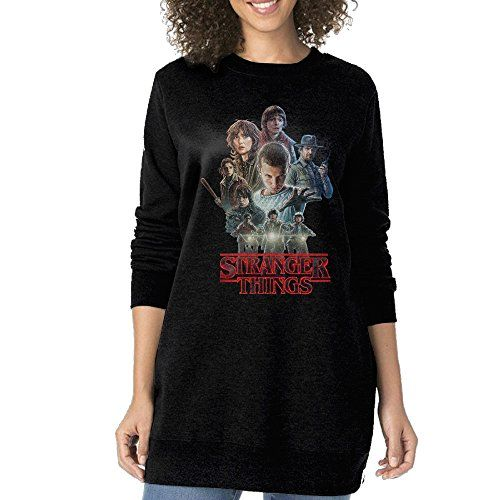 Women Kyle Dixon Michael Stein Stranger Things Oneck Long Sweatshirt --  Want to know more 0e5ddd42a26e