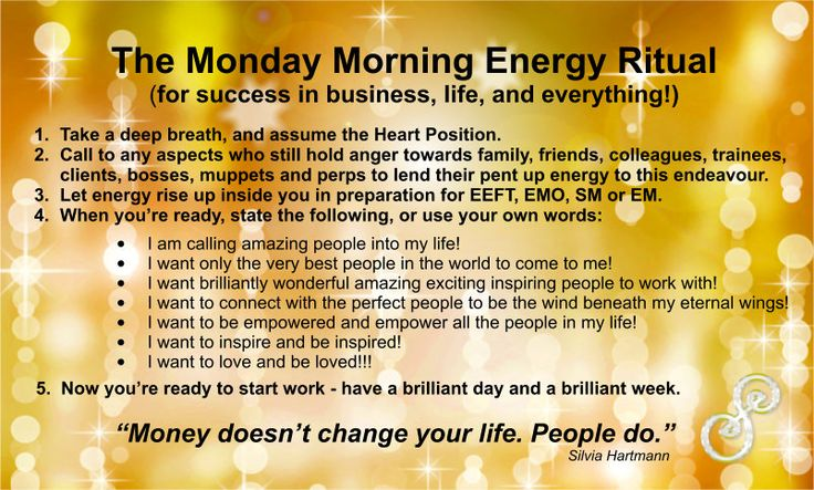 The Monday Morning Energy Ritual for Success