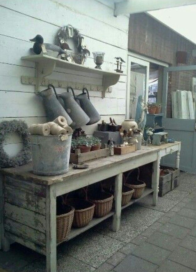 Potting Bench Idea For My Urban Garden.