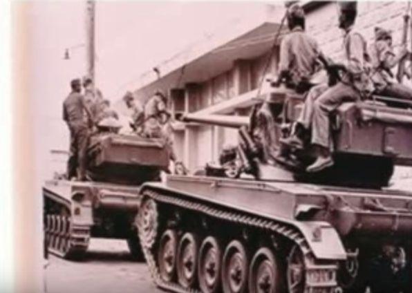 Dominican Army tanks advanced into rebel territory