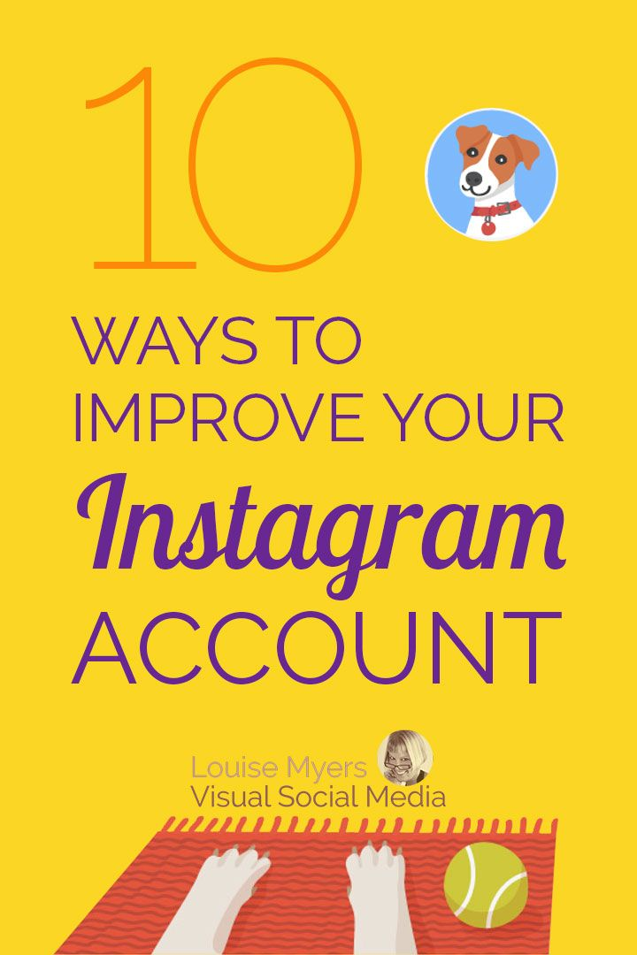 "Instagram marketing tips: Need to improve your Instagram account? Click to learn 10 tips from the ""top dog,"" a fictional fido named Ollie. Plus Hashtag Finder, an IG secret weapon! #instagramtips #instagrammarketing #socialmediamarketing #smm #marketingdigital #doglovers"