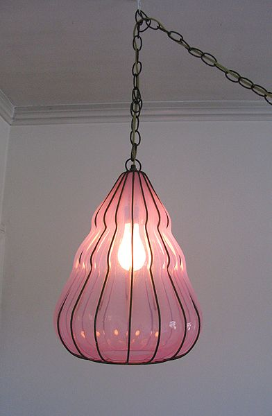 Vintage Italian Murano Glass Pendant Chandelier...I want to find 3 mis matched hanging lamps for my kitchen to replace the ugly florescent