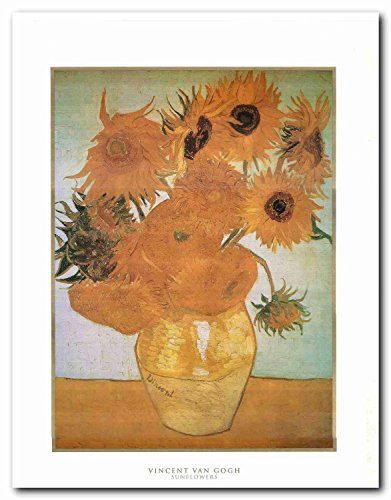 Bring home this beautiful sunflowers picture art print poster which will surely enhance your home interior. Vincent van Gogh paintings each stands out as its own unique work of art. Van Gogh began painting sunflowers after he left Holland for France in pursuit of creating an artistic community. This contemporary style wall art will surely brighten the dull wall of your home and add colors to it.
