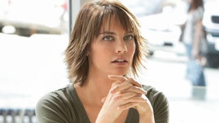 Lauren Cohan as Rose in Vampire Diaries. I've never been able to bring myself to cut my hair short, but I always say that if I did, I'd want it to look like Rose's.