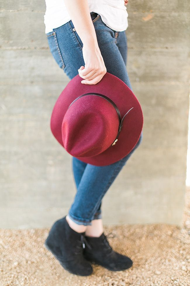 Fall Fashion: Floral Kimono + Boho Hat + Suede Wedges + Bauble Necklace // OOTD http://www.thinkelysian.com