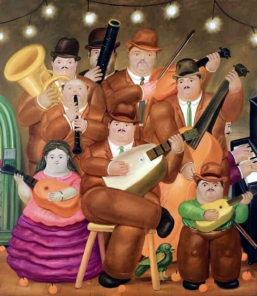 Les musiciens 1979  Huile sur toile 217x190