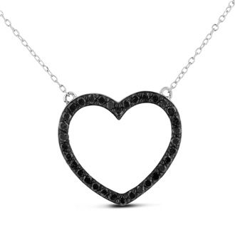 53 best diamond heart necklace images on pinterest black gorgeous black diamond heart necklace perfect for any special occasion this necklace contains 34 shimmering aloadofball Image collections