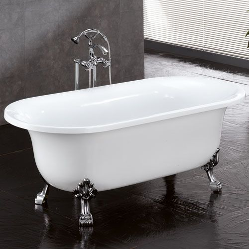 Extra Deep Clawfoot Tub. 68  Cameron Double Ended Acrylic Clawfoot Tub Brushed Nickel Feet No Overflow or 96 best Luxuria Hardware Bathtubs images on Pinterest