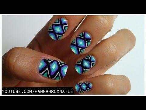 Tribal Print Nail Art for Teen Vogue - YouTube