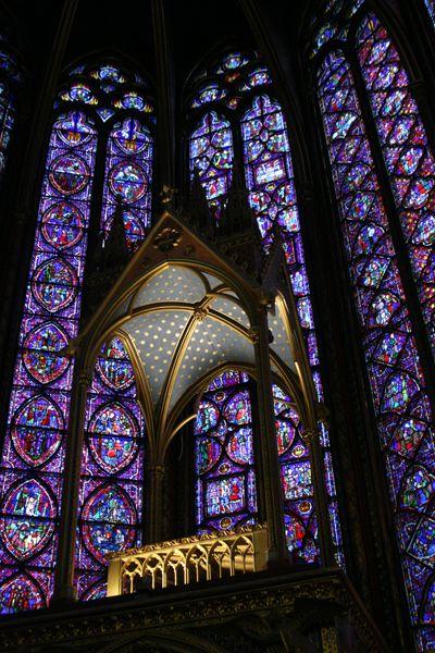 Sainte Chapelle windows, Ile de la Cite, Paris 4e