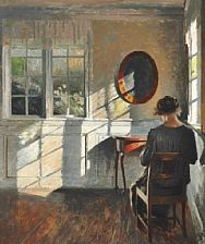 Sunshine in the living room by Peter Vilhelm Ilsted