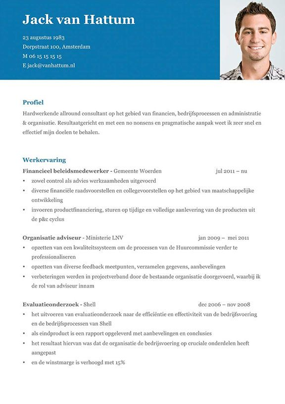 download cv lay-out