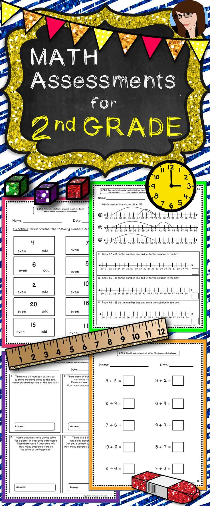 Math Assessments for 2nd Grade