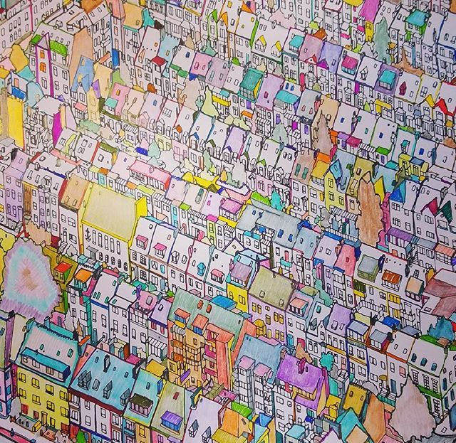 Fantastic Cities ColouringColoring Books