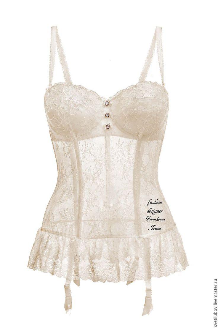 Купить Свадебный Корсет УТЯГИВАЮЩИЙ со съемными подвязками - белый, корсет…