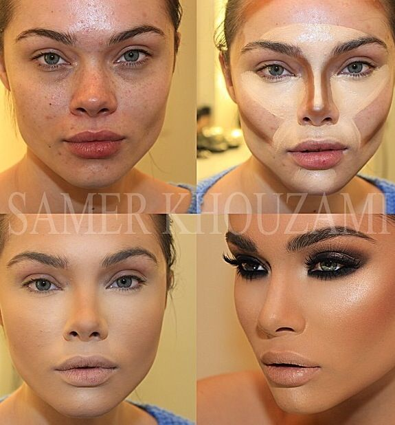 Contouring & Highlighting over acne