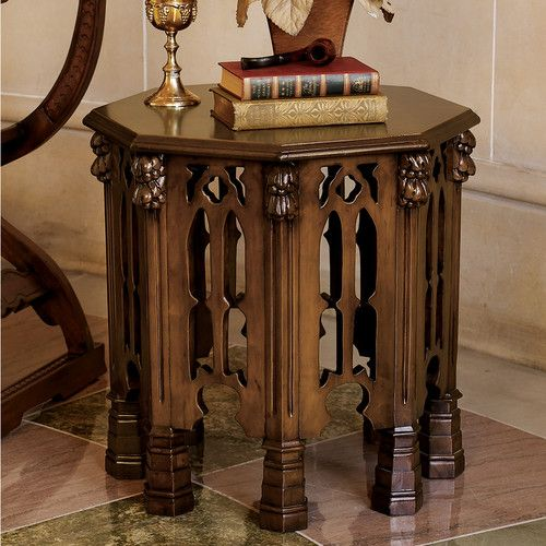Found it at Wayfair - Gothic Revival End Table